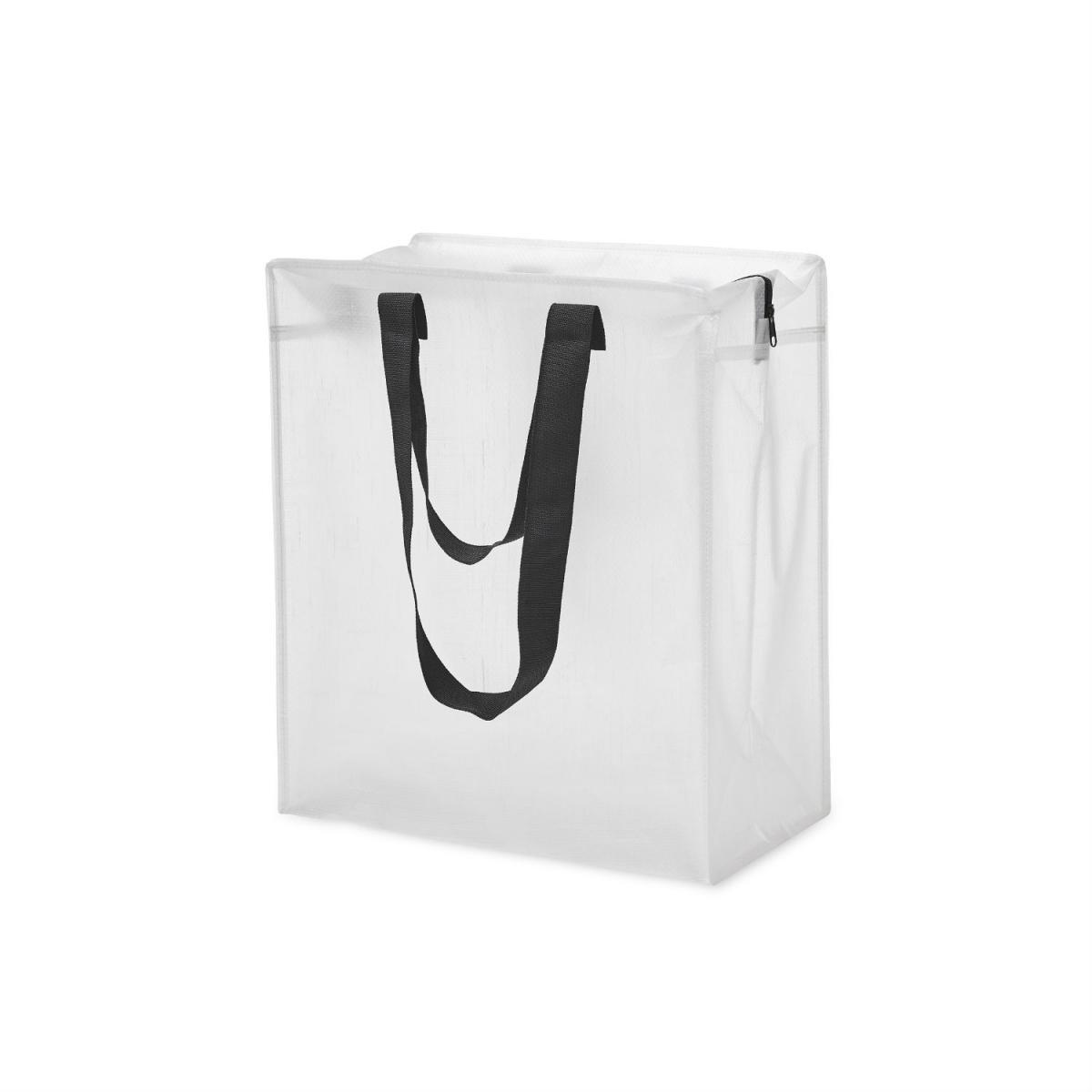 opbevaringstaske ice i klar frosted plast