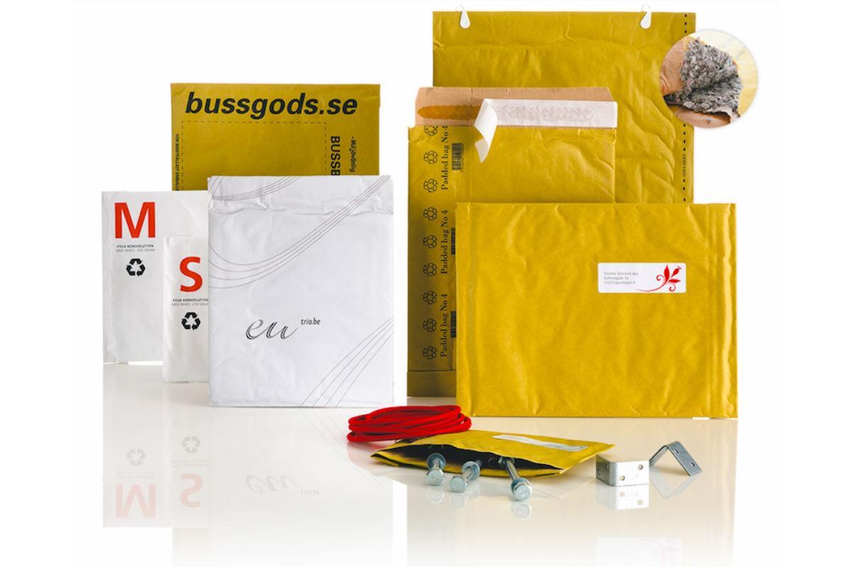 konvolutter som forede poser (padded bags) til e-handel