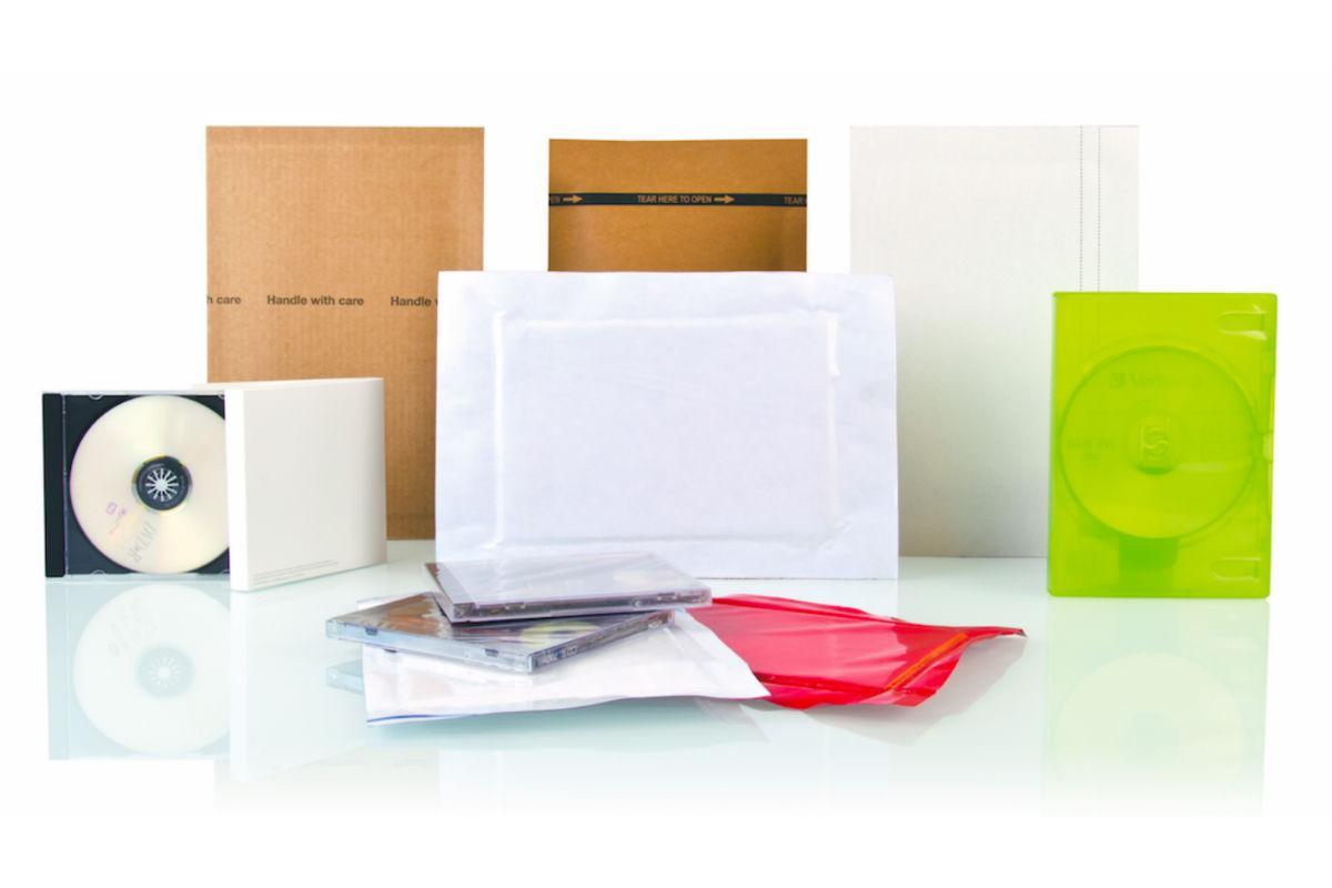 Konvolutter Cold Seal forsendelsesemballage til e-handel