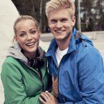 kvinde og mand i softcell jakker - tøj med firmalogo
