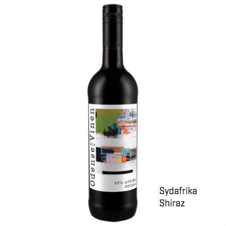Sydafrika Shiraz rødvin. Vin med logo