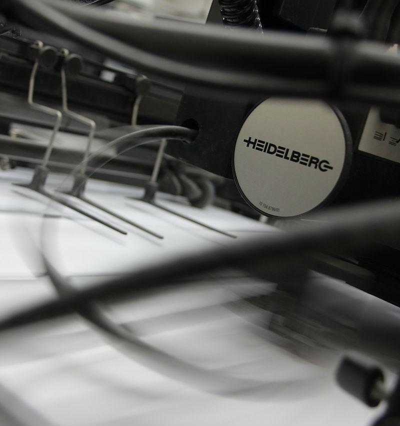 miljøvenlige tryksager fra en heidelberg trykmaskine