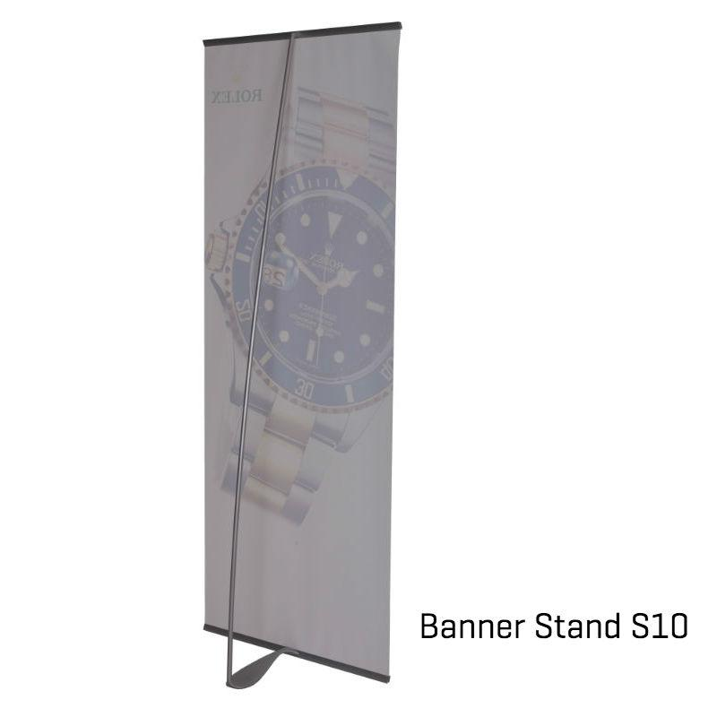 banner stand med design award supplement til pop up væg