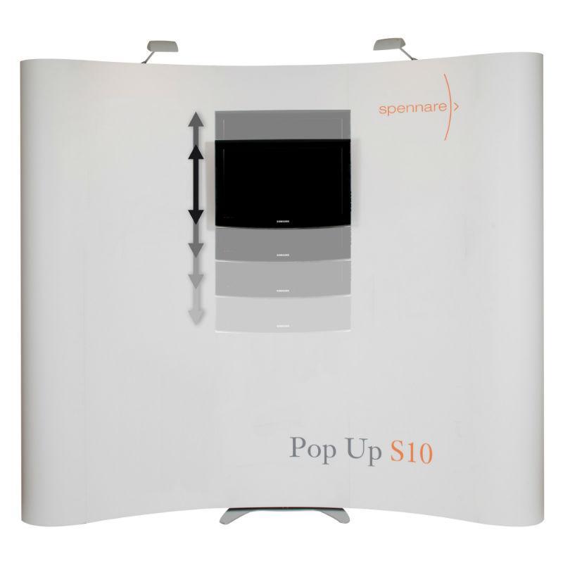 pop up væg med fladskærm
