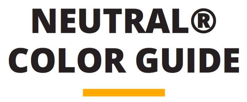 tekst der siger neutral color guide